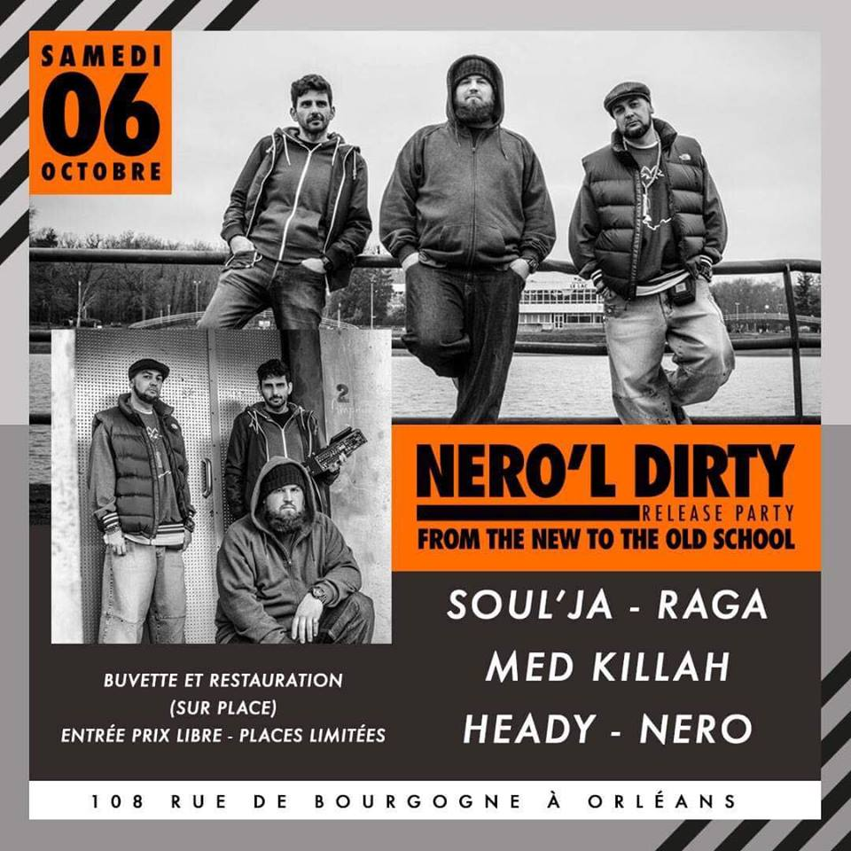 NERO'L DIRTY release party FROM THE NEW TO OLD SCHOOL 6 octobre